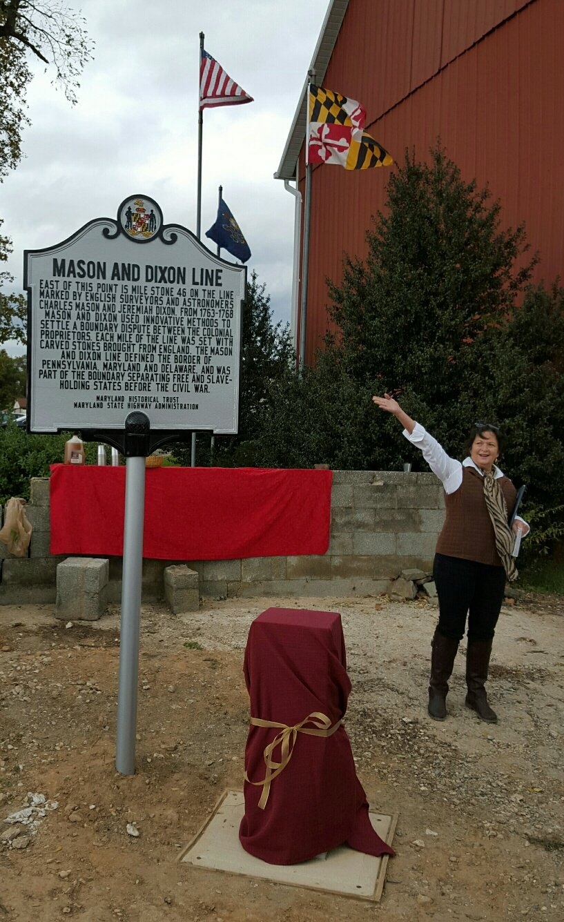 Unveiling of Historic Road Marker - Mason and Dixon Line