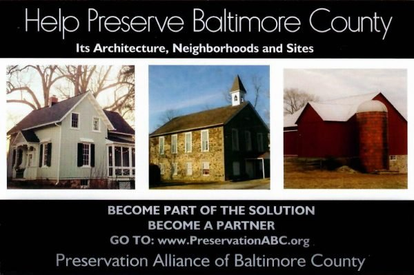 Preservation Alliance of Baltimore County membership
